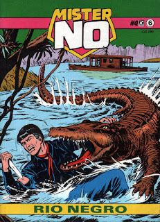 Capa da história em quadrinhos Mister No - Rio Negro