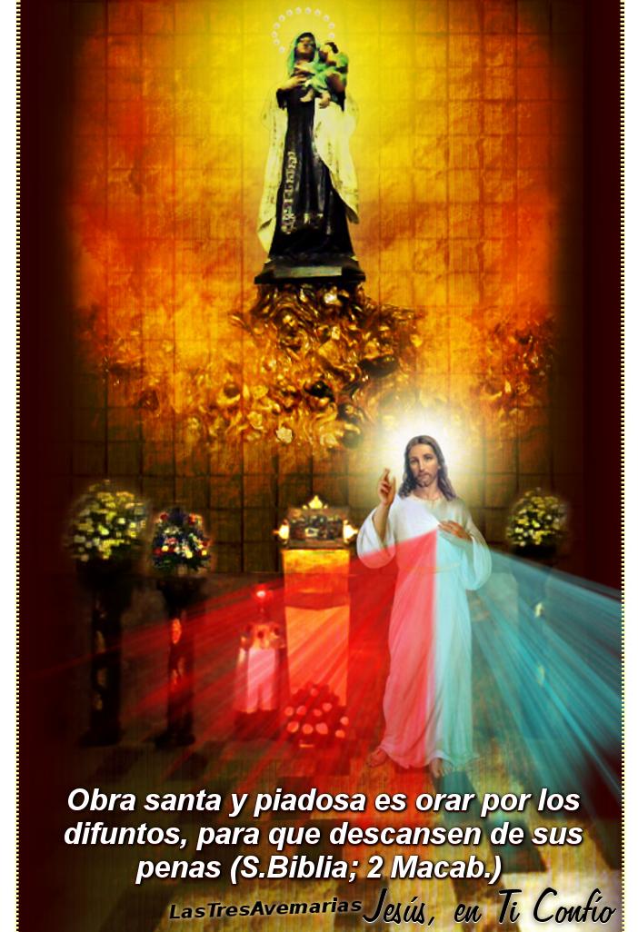 foto de jesus y su mama para las almas del purgatorio