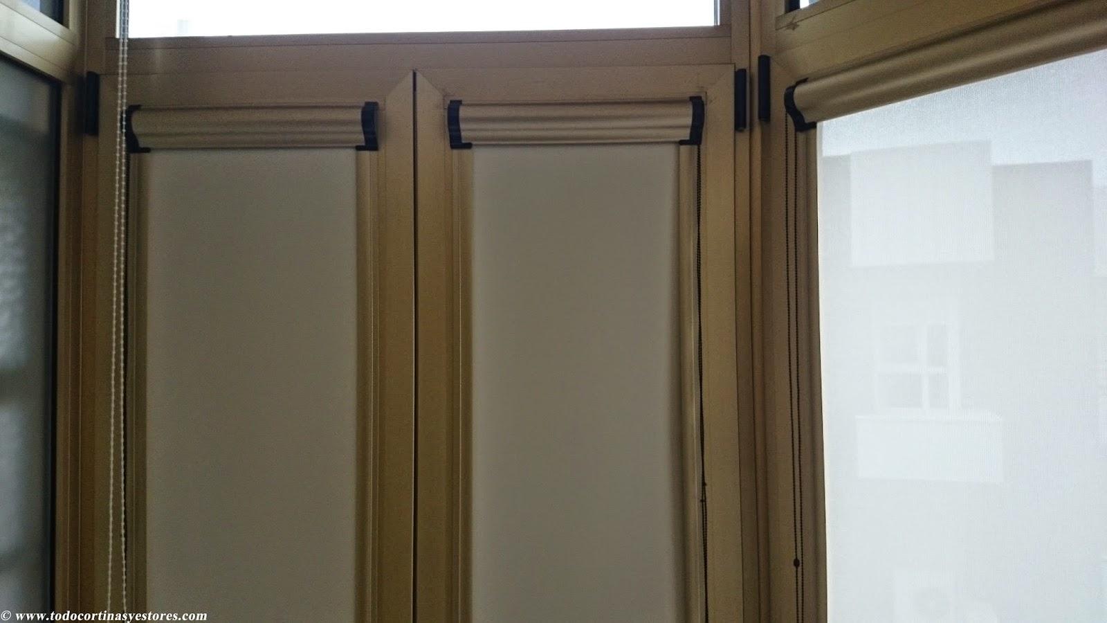 Persianas y estores elegant persianas venecianas with - Cortinas puerta exterior ...