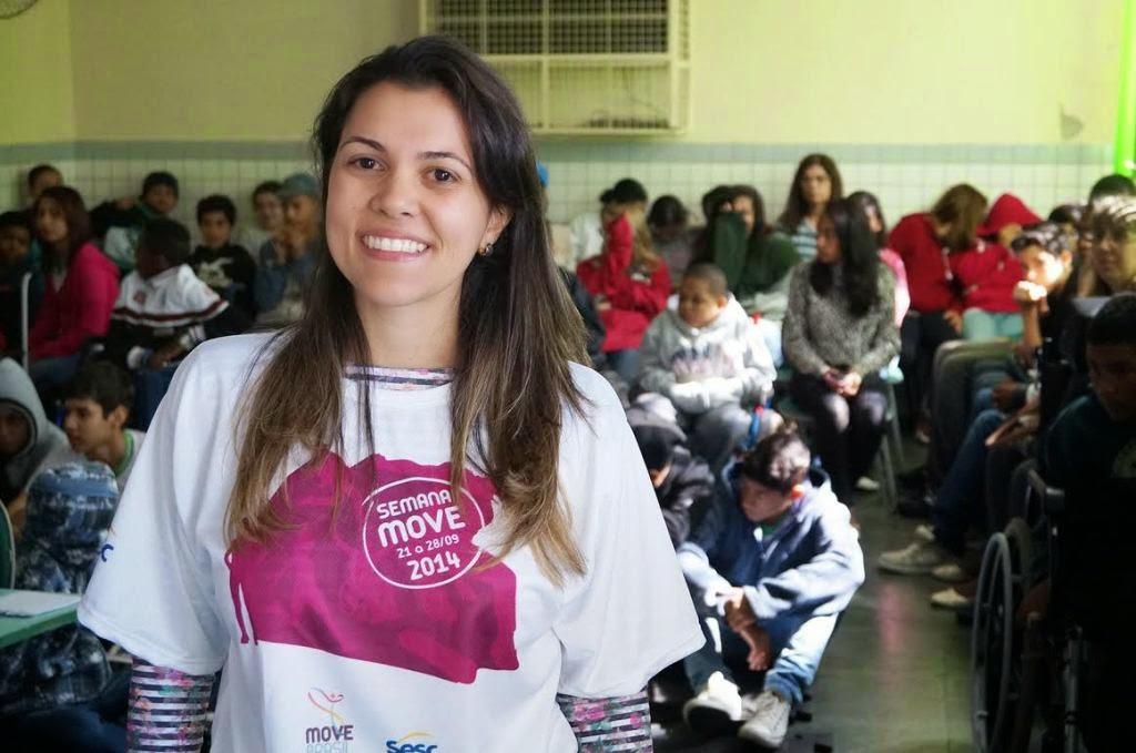A fisioterapeuta Maryana da Fonte Pimentel é uma das coordenadoras do projeto