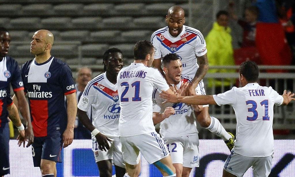 El PSG perdió en casa del Lyon por la mínima.