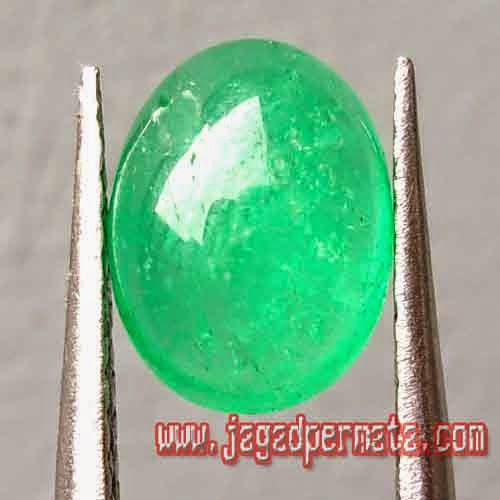 Batu Permata Zamrud Colombia Green Top Collor
