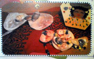 Broches artesanales con caracoles y conchas
