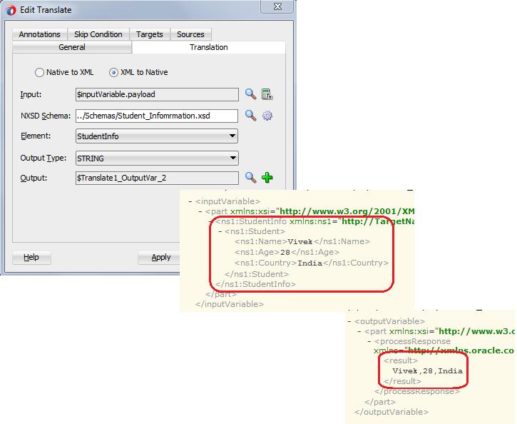 XML to Native Translate