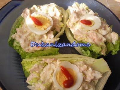 Cogollos de lechuga rellenos Cogollos+Dukan