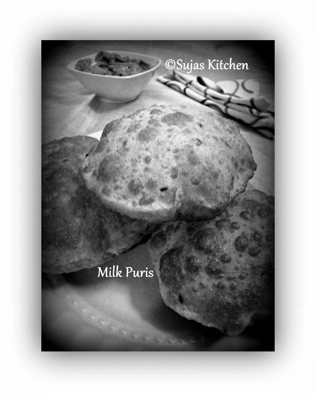 Milk Puri's - Savory Puri's made with milk.