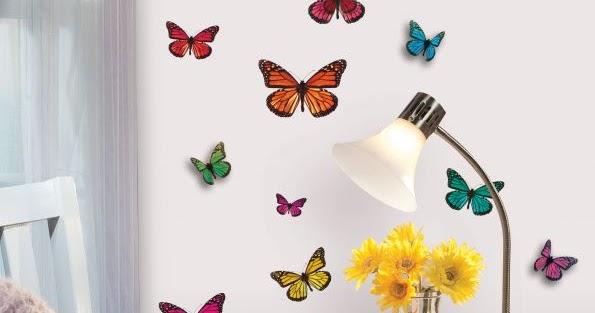 Uniques papillons de d coration d cor de maison d coration chambre - Decoration papillon chambre ...