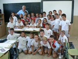 Los alumnos de la clase de 5º B