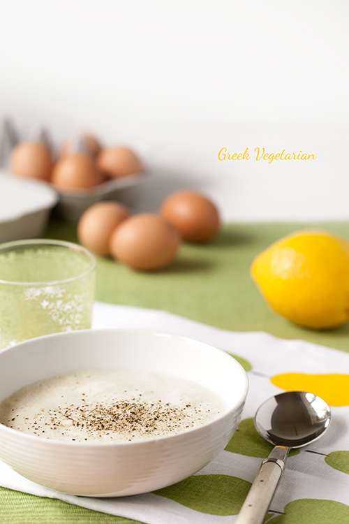 Greek Vegetarian: Avgolemono Soup (Greek Egg and Lemon Soup)