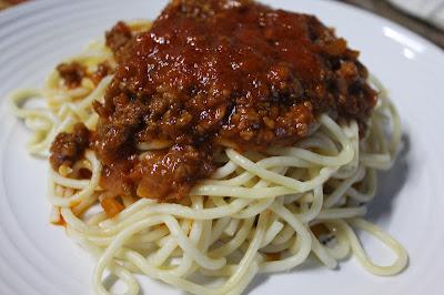 Spageti Bolognese, Sambal Udang Petai dan Bihun Goreng Singapore