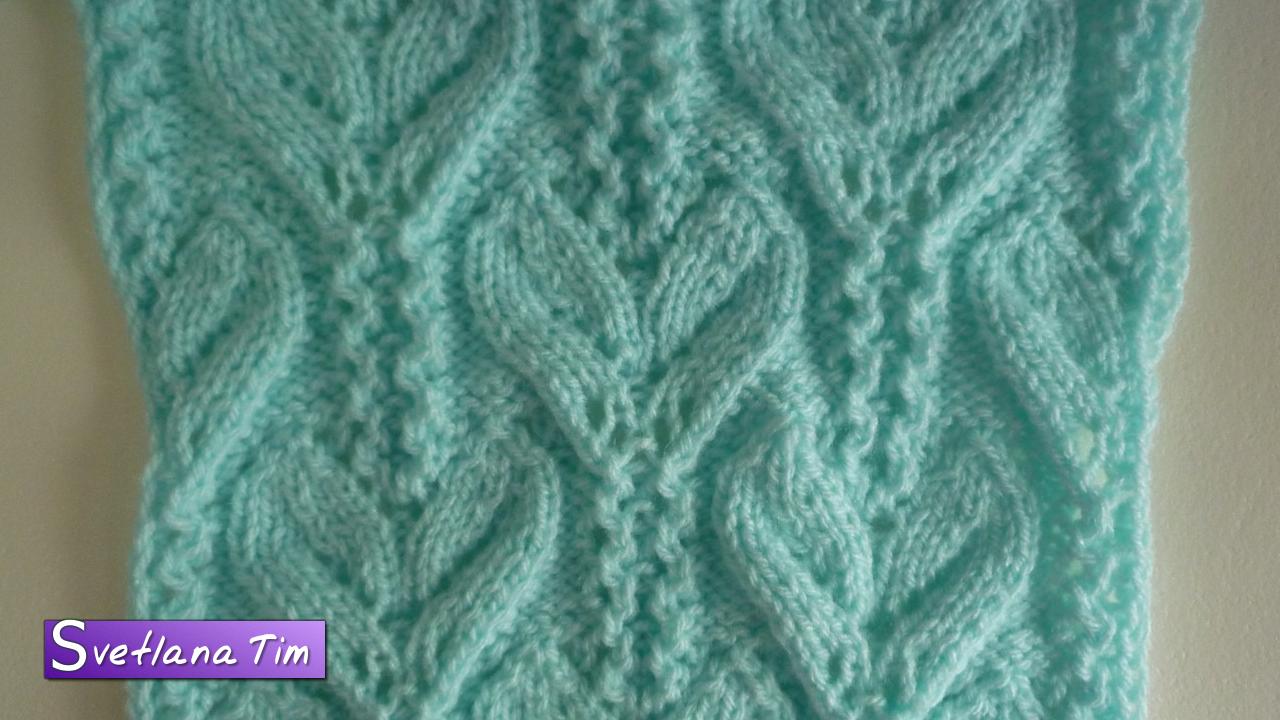Вязание спицами ажурный узор для жакета