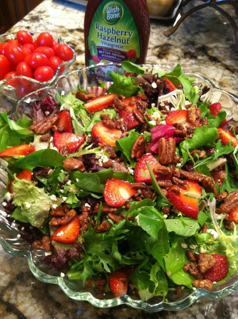 The Ranch Kitchen: Strawberry, Feta and Sugared Pecan Salad
