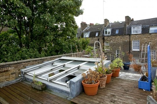 06-1st-Floor-Studio-Mews-Apartment-Camden-London-UK-Skylight-Roof-Terrace-Garden