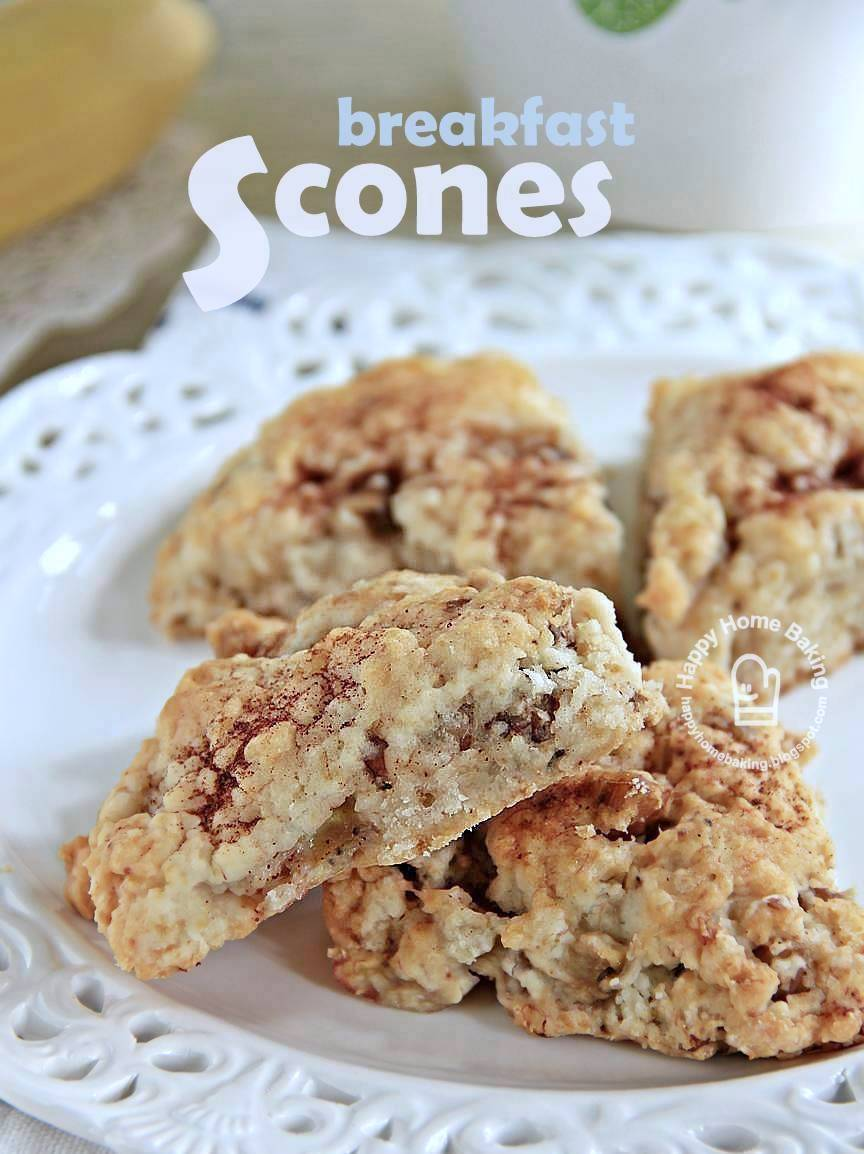 had wanted to make these banana walnut scones for our weekend ...