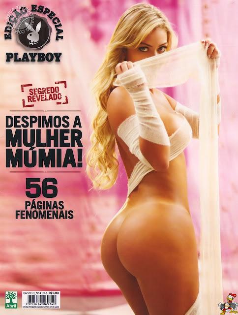 Confira as fotos da  Mulher Múmia, Laura Keller, capa da payboy Especial de abril de 2010!