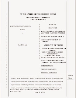 Kent Hovind's early 2015 court filing