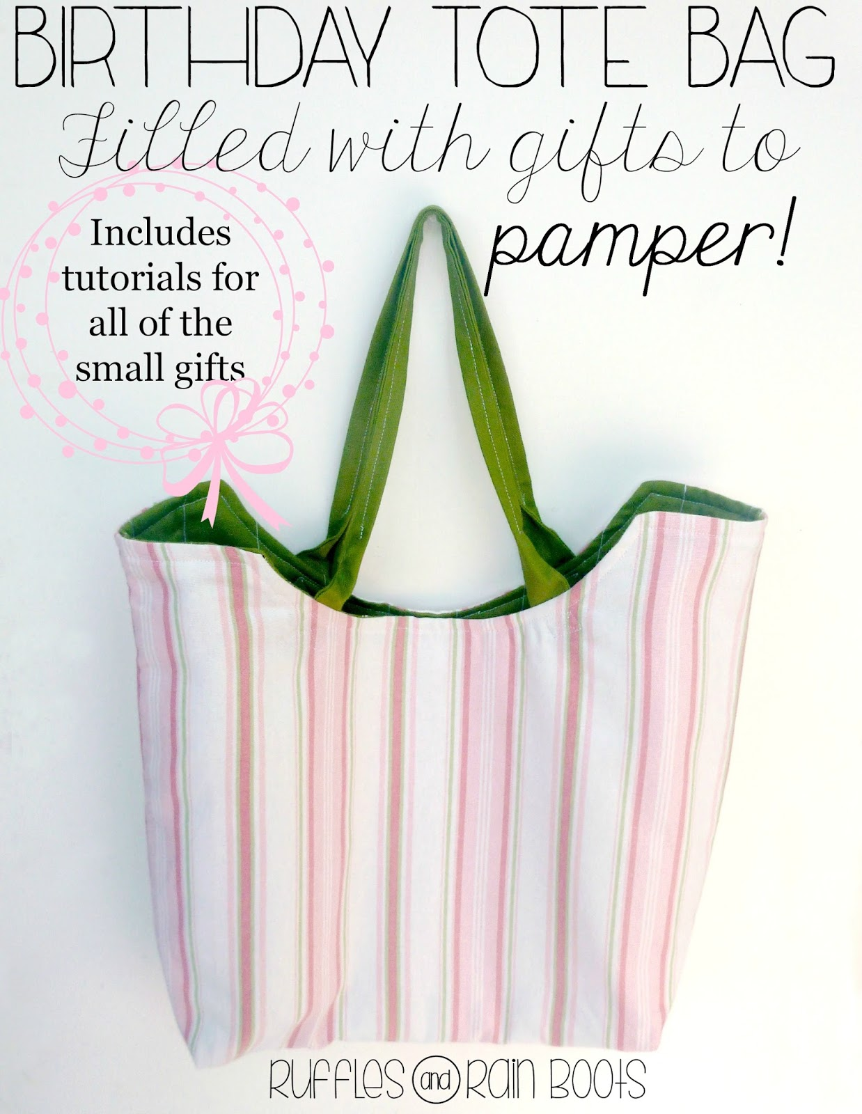 Birthday tote bag and gift ideas from ruffles and rain boots