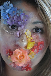 Rainbow Flower Face Paint