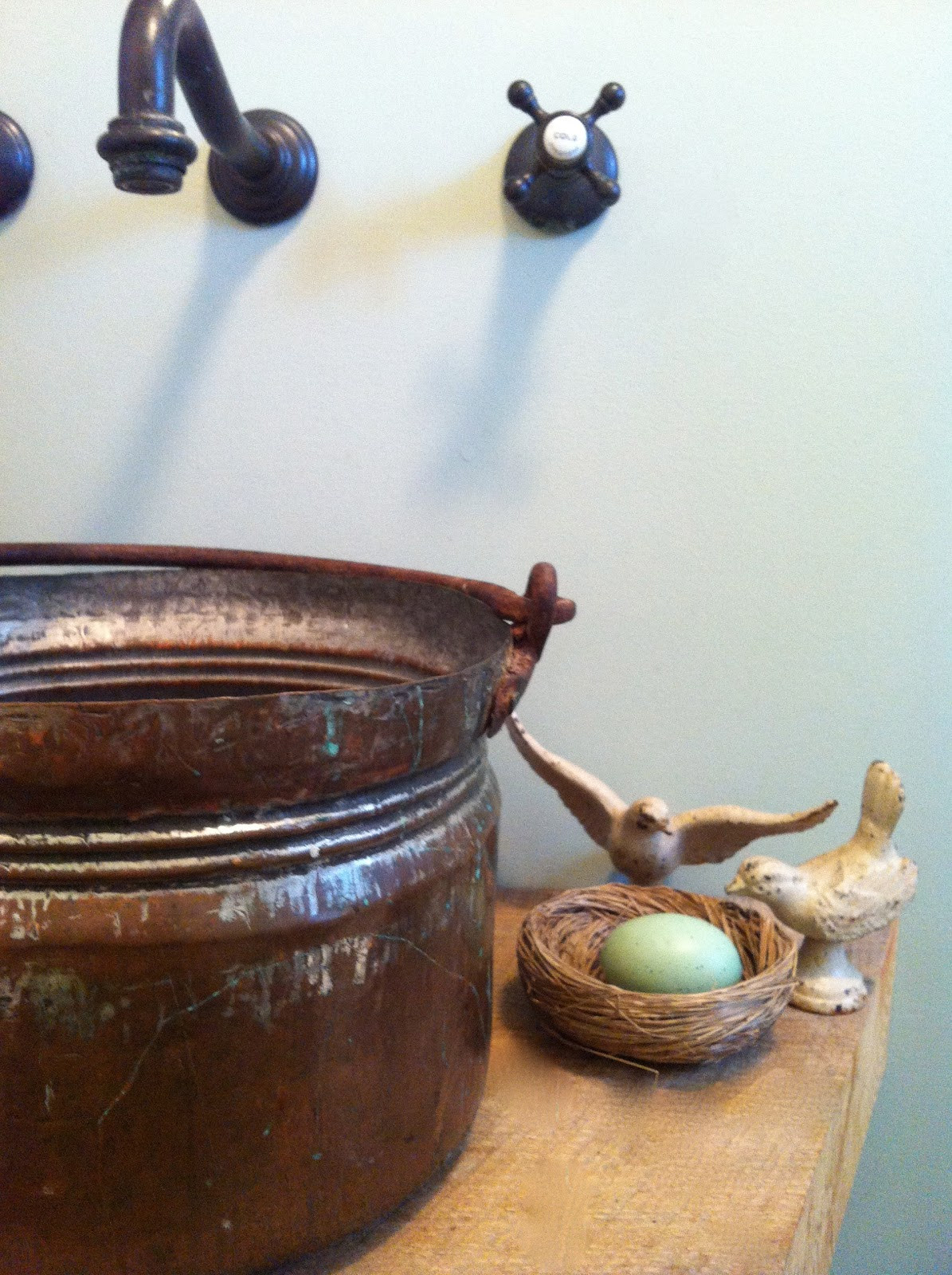 Bucket Vessel Sink : DIY Easy Peasy Copper Bucket Vessel Sink !!! - Tobi Brittons Living ...