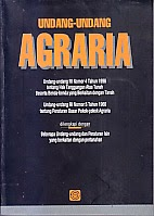 toko buku rahma: buku UU agraria, penerbit sinar grafika