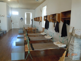 barrack interior at fort stockton