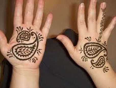 Pakistan Cricket Player Simple Henna Design For Kids