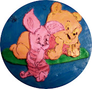 Gumpaste Pooh and Piglet Plaque. Posted by Chef B at 8:14 PM No comments:
