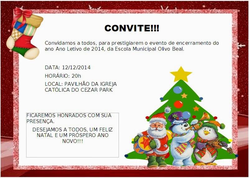 Escola municipal olivo beal dezembro 2014 for Mural de natal 4 ano