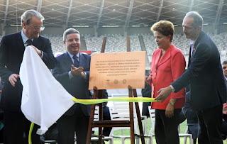 Presidente Dilma inaugura estádio Mineirão
