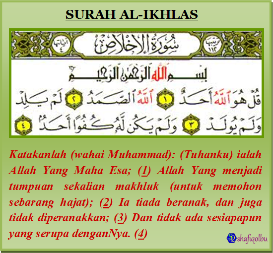 Faqqir Ilallah Dahsyatnya Surat Al Ikhlas