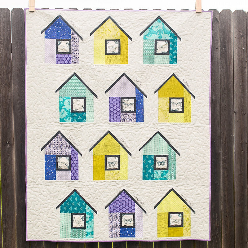 Okc modern quilters flaunt your finish special edition for Modern house quilt block