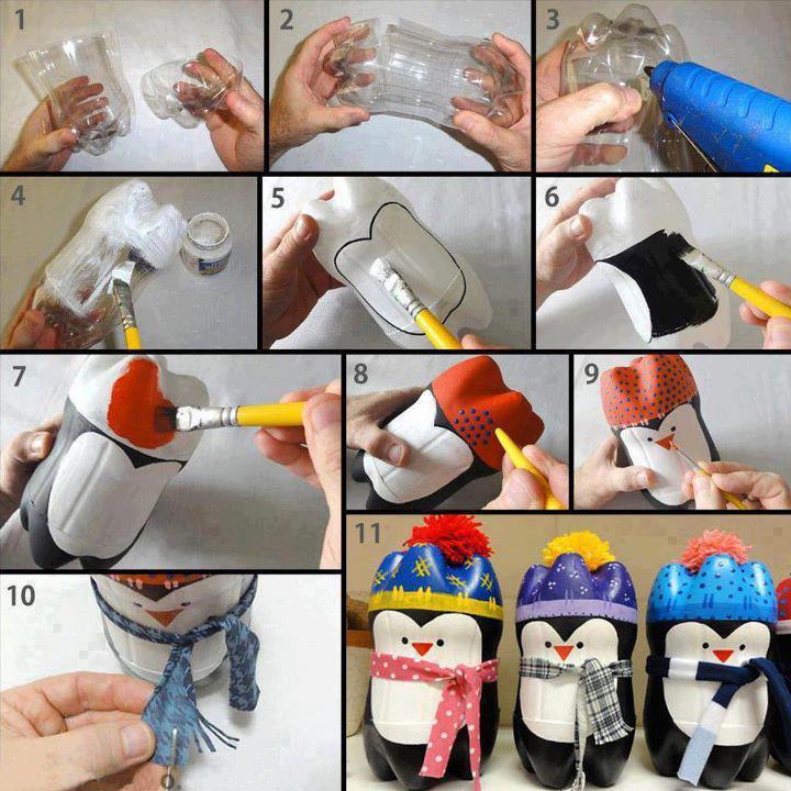 Pop Bottle Penguins