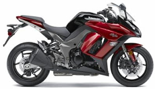 2011 Kawasaki Ninja 1000 red Color - right Side