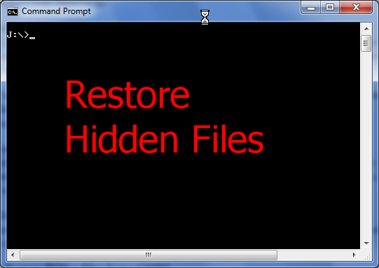 [Solved] HOW TO: Restore Hidden Folder / Files Using CMD ...