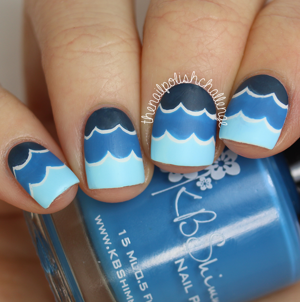 Ocean Wave Nail Art With Kbshimmer Nail Vinyl Decals The Nail