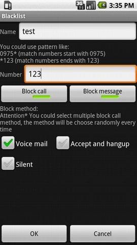 Android Numara Engelleme Programı