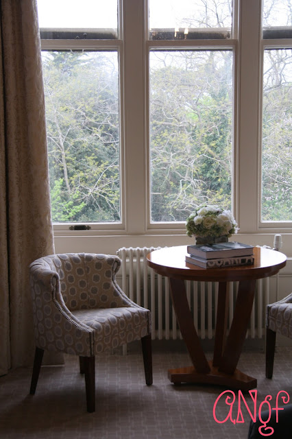 A quaint seating area in The Buzzard Room at Clevedon Hall | Anyonita Nibbles Gluten Free