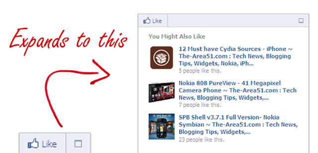 facebook recommendations box for blogger