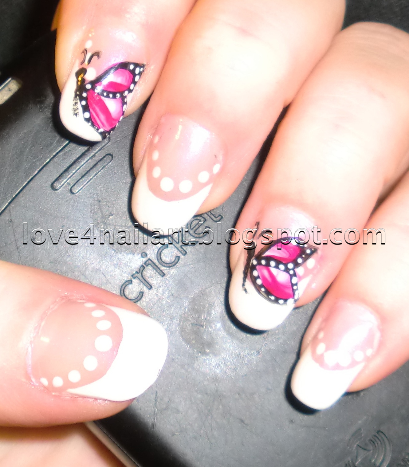 Cute polka dots nail designs simple