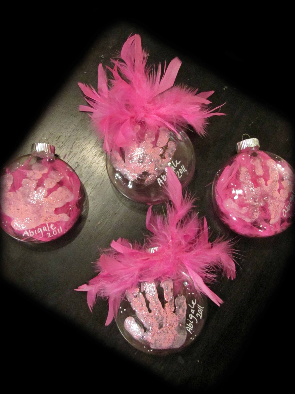 3 keepsake handprint ornaments for kids