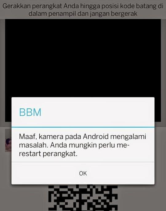 BBM eror pada android xiaomi redmi note