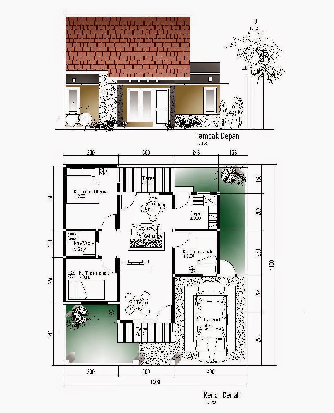 Rancangan Denah Rumah Minimalis Arsitek Rumah Minimalis