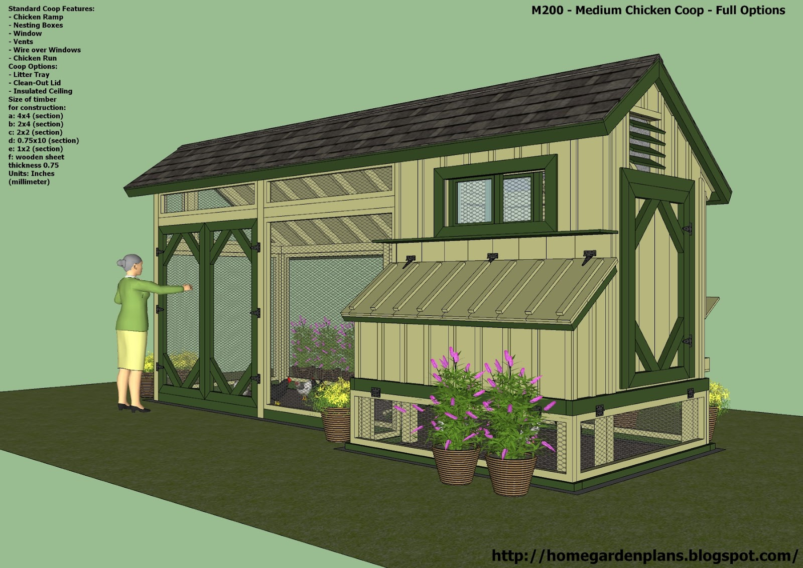 Chicken Coop Plan Chicken Coop Potting Sheds Pinterest