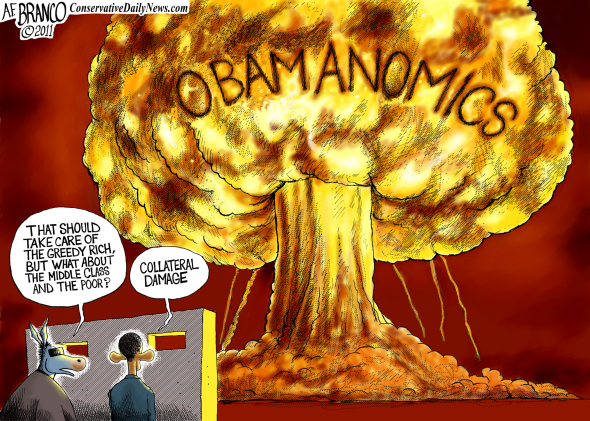 obama destroying america cartoons