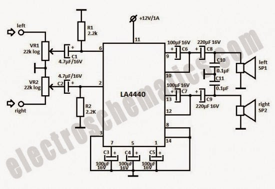 audio car system la4440 stereo amplifier wiring diagram