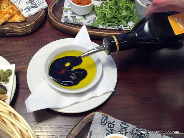Balsamic vinegar in olive oil - a match made in heaven!