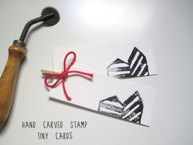 tiny stamped cards by Srta Malasuerte