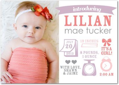 The Pledger Family Creative Baby Announcements by Rachael McAdams – Creative Birth Announcement