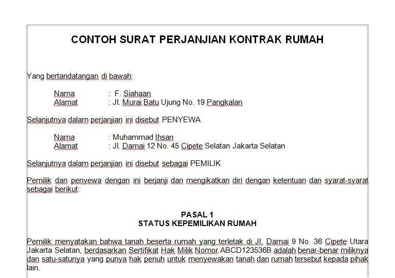 Sources of Contoh Surat Kontrak Rumah ~ Apr 2016 watch movies online