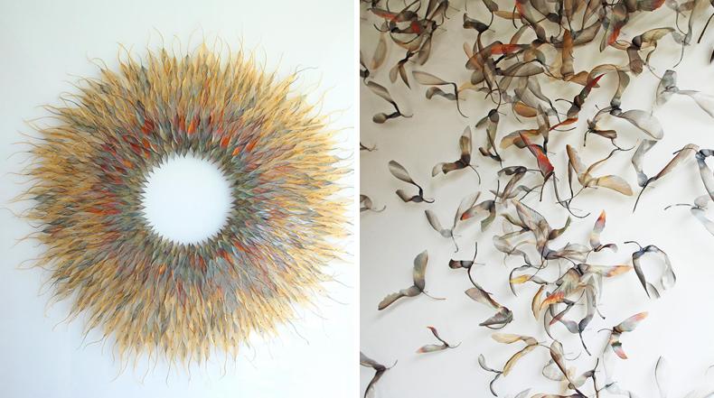 Tejidos de hojas de metal etéreos por Michelle Mckinney